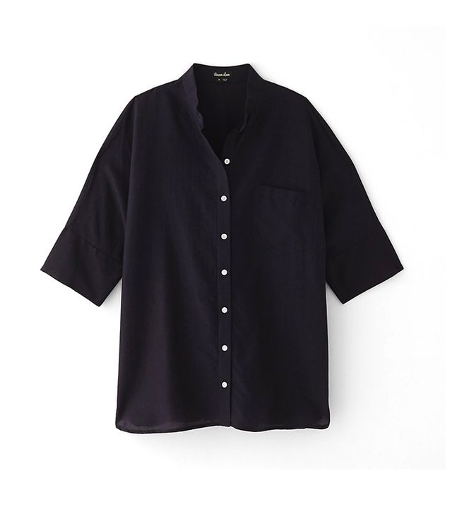 Steven Alan Oversized Stand Collar Shirt ($215)