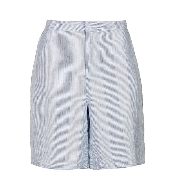Topshop Moto Linen Striped Culottes