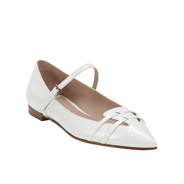 Miu Miu Patent Leather Flat Mary Janes