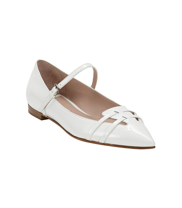 Miu Miu Patent Leather Flat Mary Janes ($550)