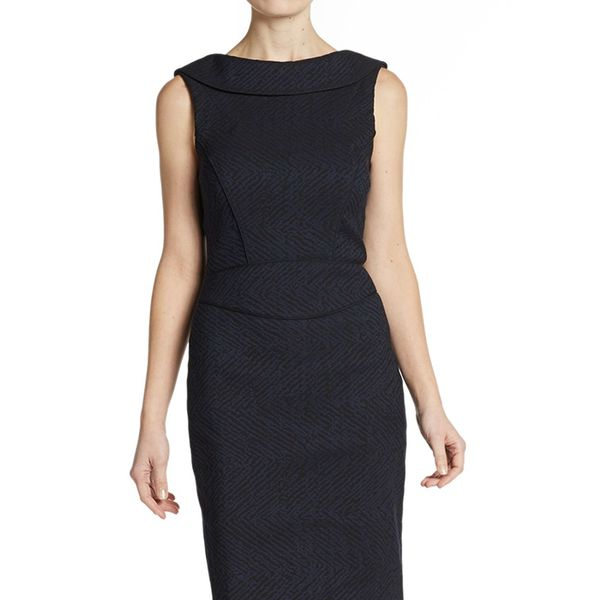ZAC Zac Posen Boatneck Sheath Dress