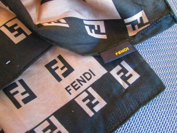 Vintage Fendi Cotton Square Scarf
