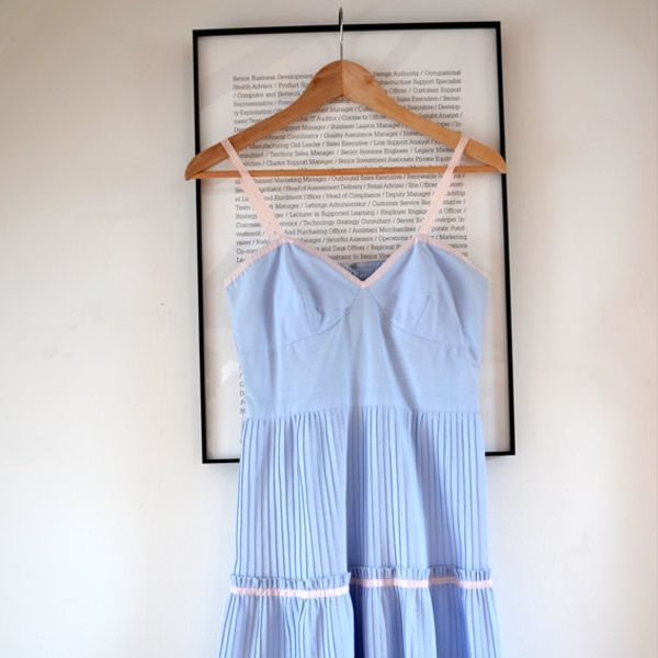 Vintage 1970's Pastel Sweetheart Dress