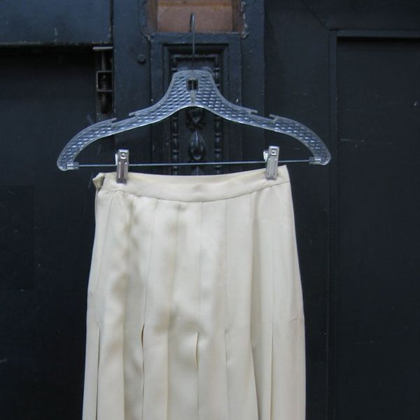 Rive Gauche Pleated Skirt From 1970's Vintage Saint Laurent