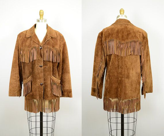 Vintage 1960's Brown Fringe Western Jacket