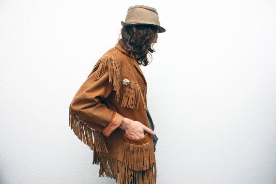 Vintage 1970's Suede Fringe Jacket