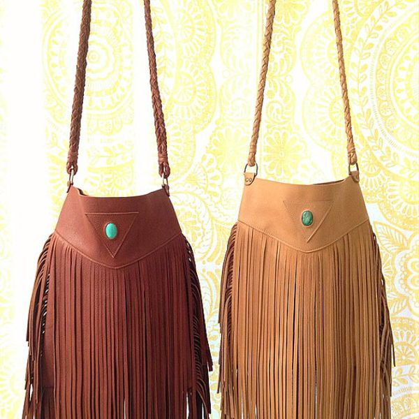 Native Rainbow Handmade Sequoia Fringe Bag