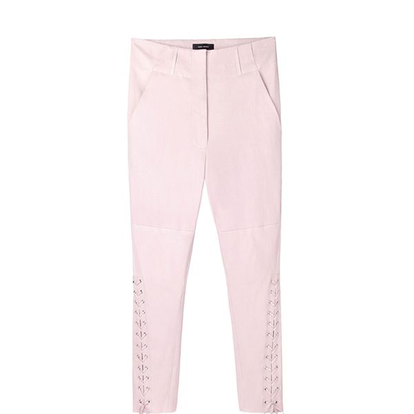 Isabel Marant Curtis Lace-Up Leather Pants