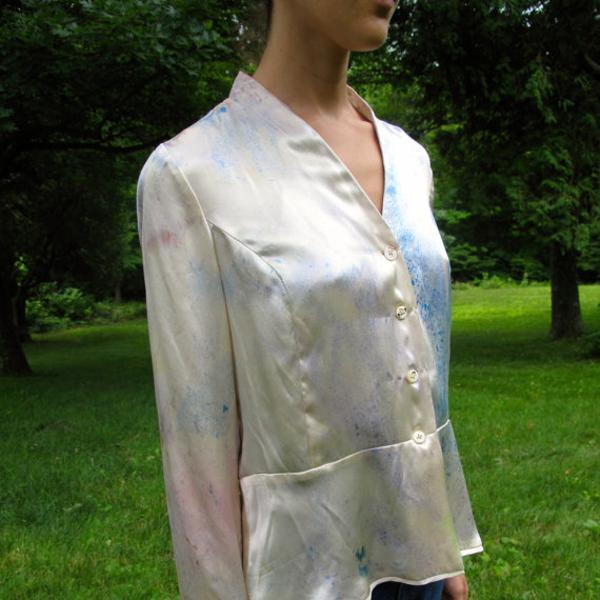 Malin Landaeus Hand Dyed Vintage Silk Blouse