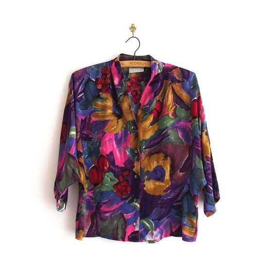 Vintage Watercolour Print Blouse