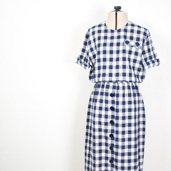 Vintage Becky Ellis Gingham Dress
