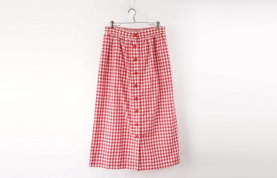 Vintage 1980's Gingham Skirt