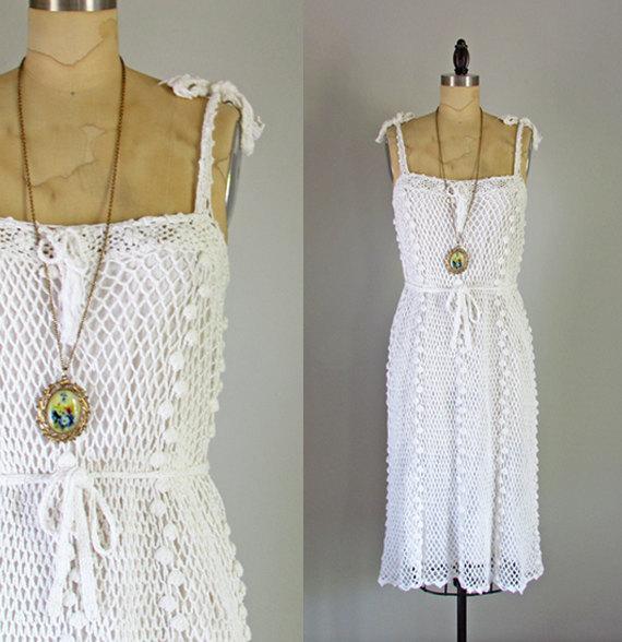 Vintage 1970's White Sun Dress