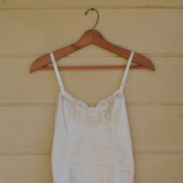 Vintage 1980's White Lace Camisole