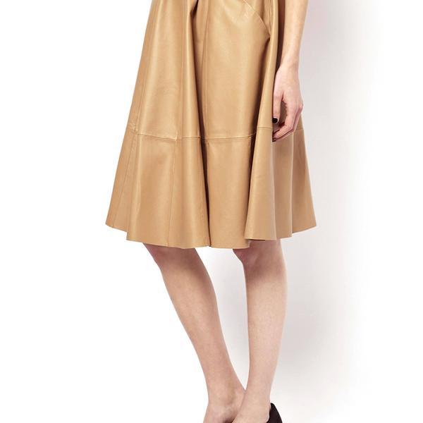 ASOS Full Skirt in Leather