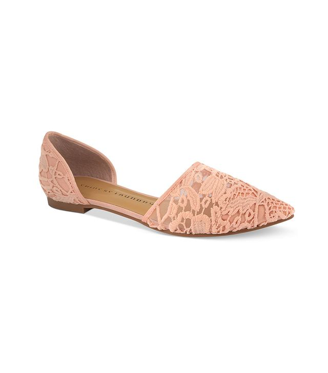 Chinese Laundry Easy Does It Flats ($60) in Blush