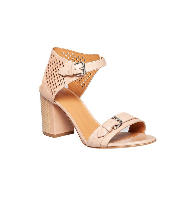 Marc by Marc Jacobs Block Heel Ankle Strap Sandals ($328) in Tan  Neutral with just enough edge.
