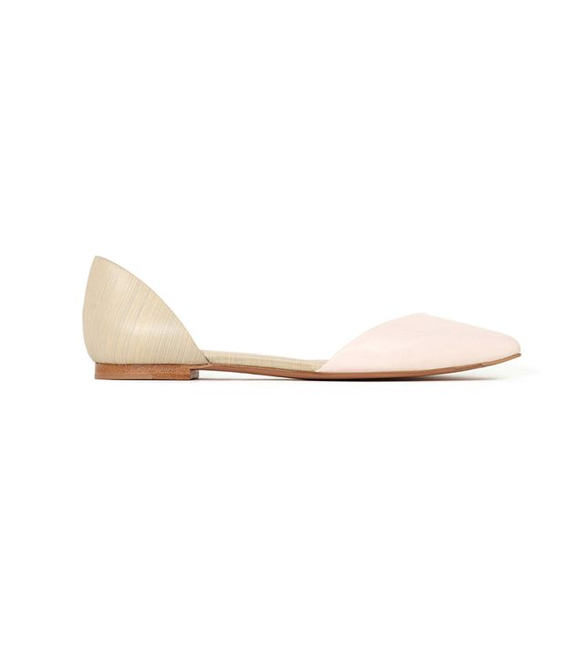3.1 Phillip Lim Devon D'Orsay Flats ($375) in Powder