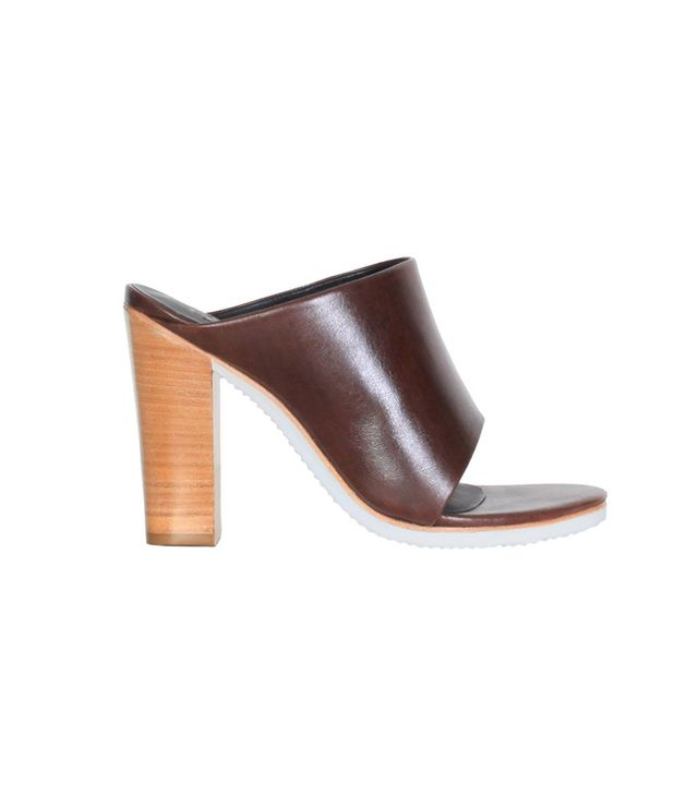 Tibi Bee Heels ($375) in Mahogany