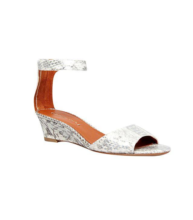 Via Spiga Open Toe Terrilyn Demiwedge Sandals ($195) in Silver