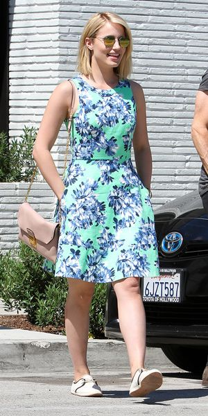 Dianna Agron Steps Out In Our Favorite J.Crew Dress