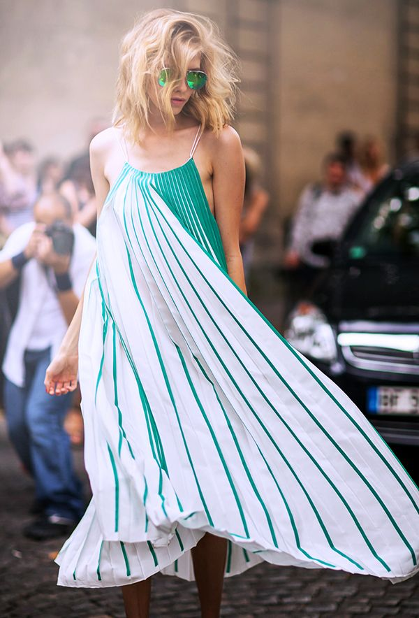 We're fairly certain this dress deserves its own wind machine.  Photo courtesy of Stockholm Street Style