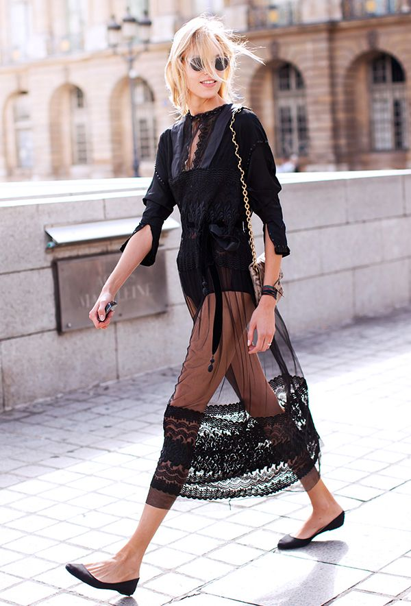 Talk about a sheer delight.  Photo courtesy ofStockholm Street Style