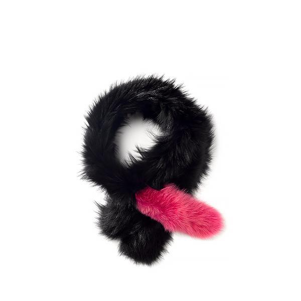 Charlotte Simone Pink Fur Popsicle Stole
