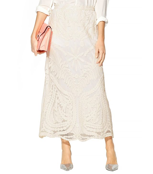 Sabine Eva Lace Maxi Skirt ($129)