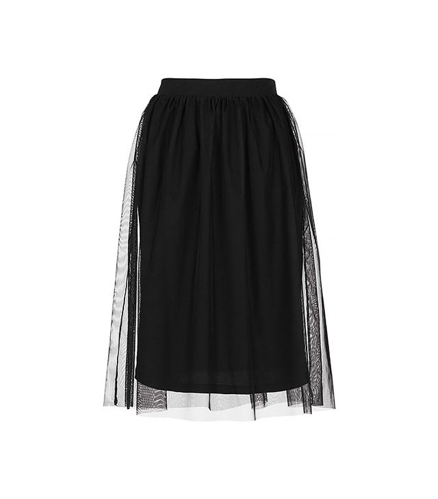 Topshop Black Midi Tulle Skirt ($35)