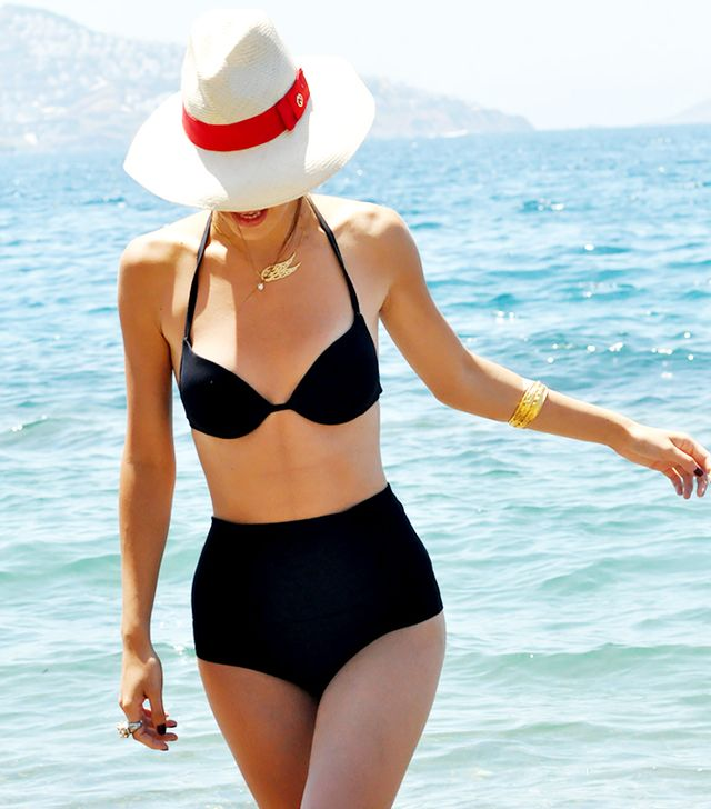 The Chicest Little Black Swimsuits