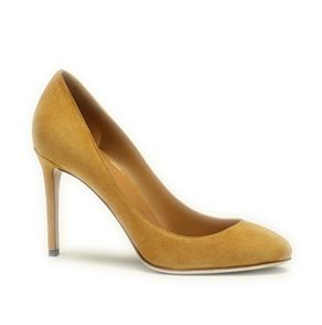 Gucci Yellow Suede Pumps