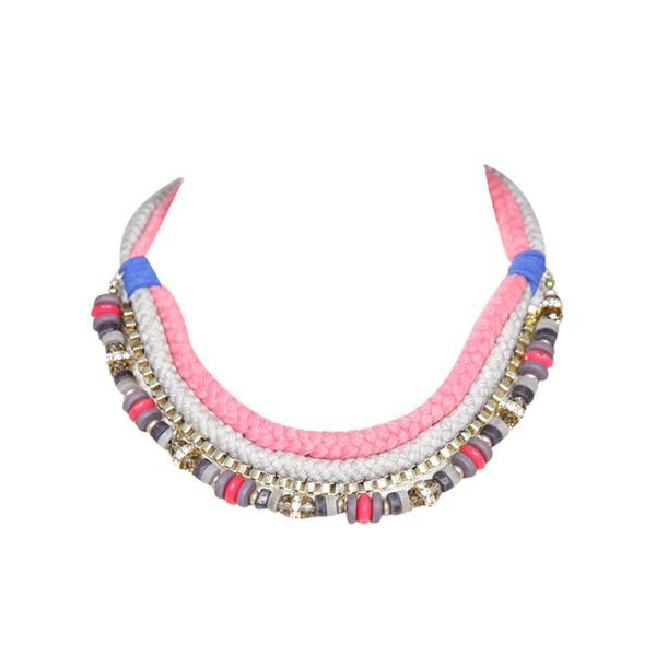 Mikkat Market Braided Multi Color Necklace