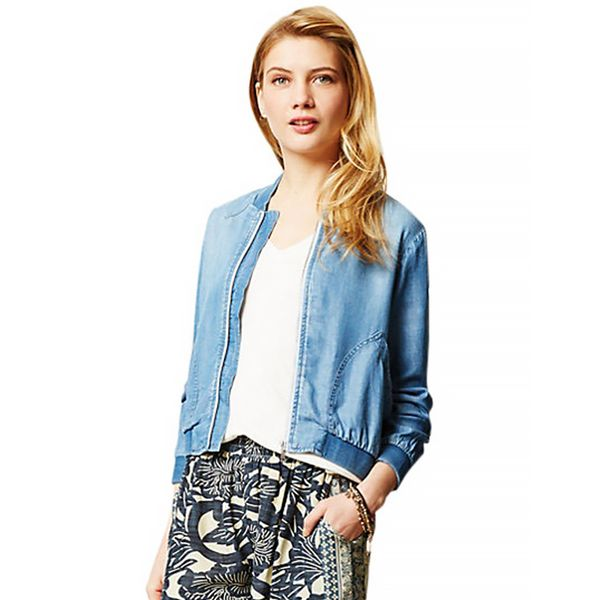 Cloth & Stone Chambray Bomber
