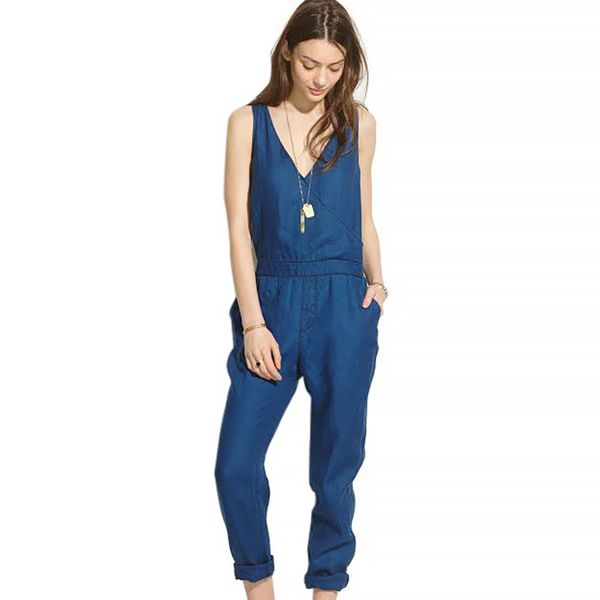 Madewell Indigo Linen Jumpsuit