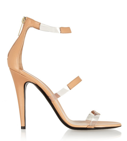 Tamara Mellon Frontline Leather and PVC Sandals