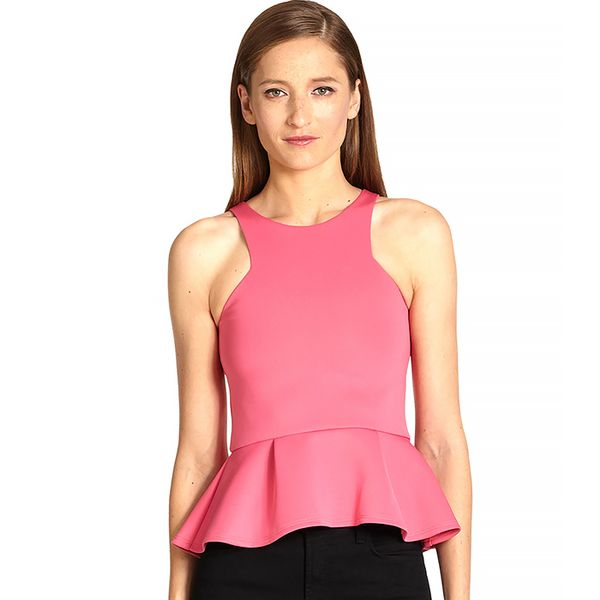 Bec & Bridge Neoprene Peplum Top