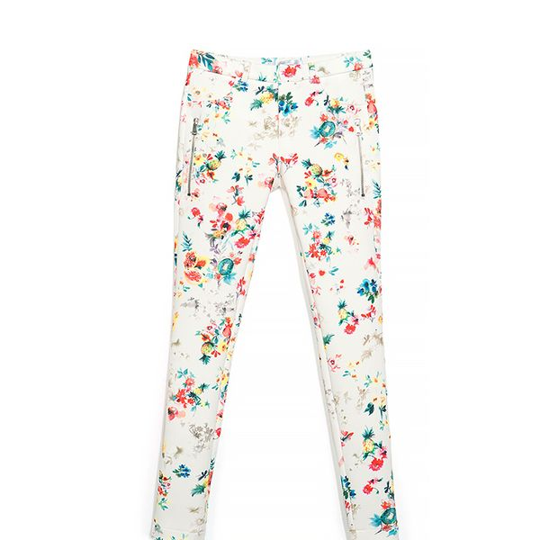 Zara Printed Neoprene Trousers