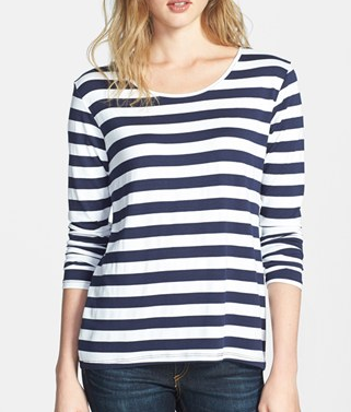 Feel The Piece Alec Stripe Long Sleeve Tee Shirt