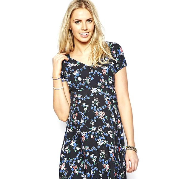 New Look Maternity Bluebell Print Tea Dress