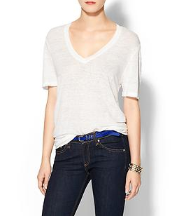 Monrow Fashion V-Neck Tee Shirt