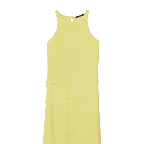 Tibi Crepe Layered Halter Dress