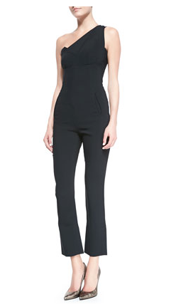 Roland Mouret Nortoni One-Shoulder Jumpsuit