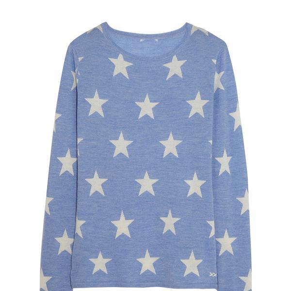 Banjo & Matilda Star Crew Intarsia Cashmere Sweater