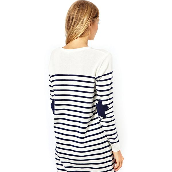 ASOS Striped Sweater Dress With Star Patch