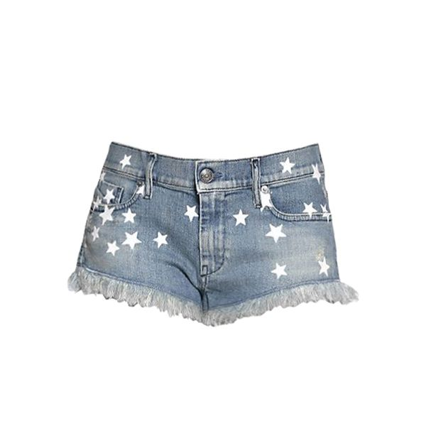 Diesel Destroyed Stretch Denim Shorts