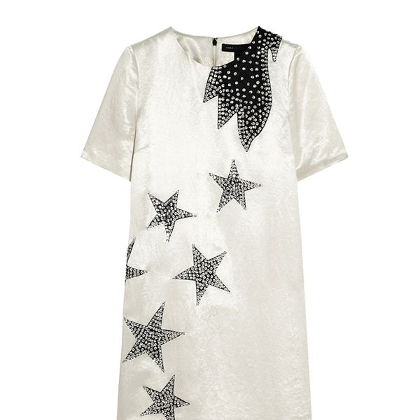 Marc by Marc Jacobs Cosmo Night Star-Appliqued Satin Mini Dress