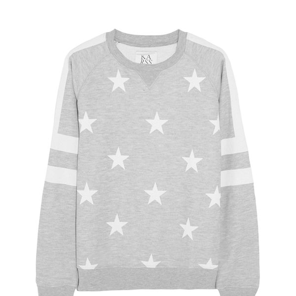 Zoe Karssen Stars All Over Printed Jersey Sweatshirt
