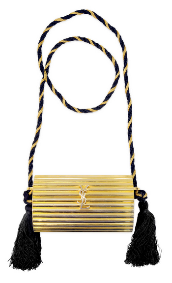 YSL Gold Tassel Clutch