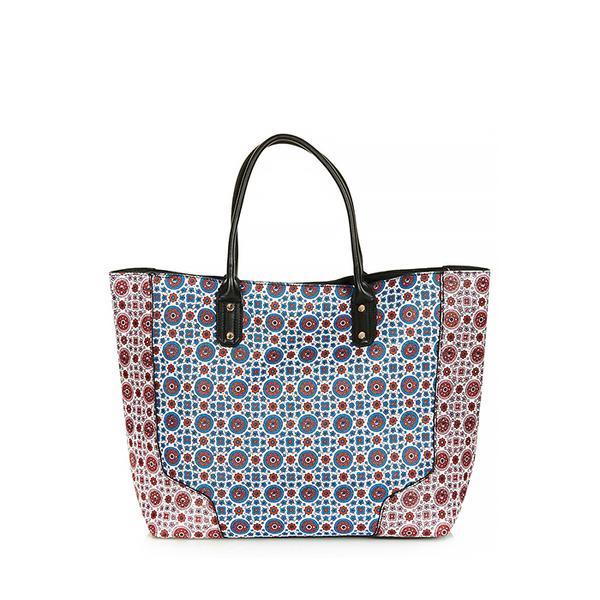 Topshop Tile Print Saffiano Tote Bag